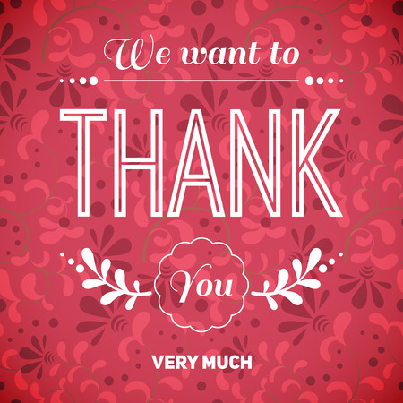 thank you very much: Thank you card.Vector illustration.