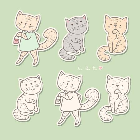 babyish: Illustration of funny cartoon kittens.