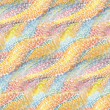 Abstract seamless pattern. Vector illustration.  イラスト・ベクター素材