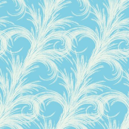 Seamless winter background with stylized frost patterns. Christmas seamless pattern.