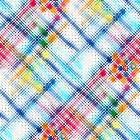 fabric texture: Tartan fabric texture. Seamless pattern. Stock Photo