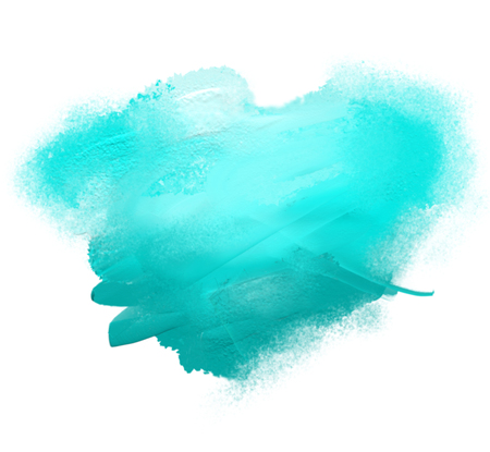 Blue spot of acrylic paint, isolated on a white background. Stock Photo