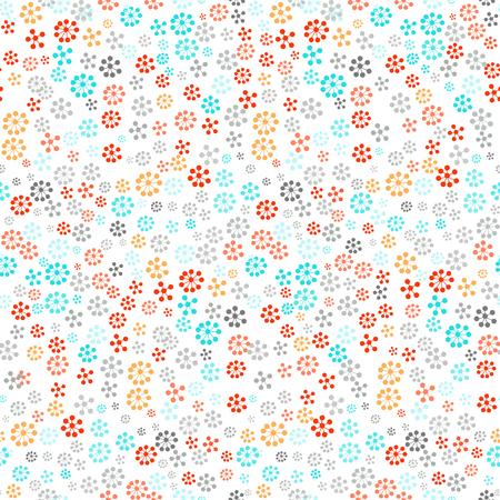 simple flower: Seamless pattern - simple flower background