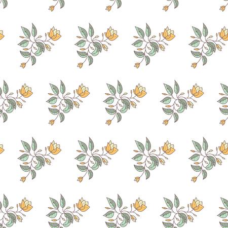 feminine floral flower: Seamless pattern - simple flower background