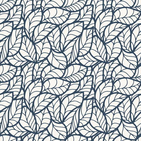 decorative patterns: Abstract seamless pattern with green leaves. Vector illustration.
