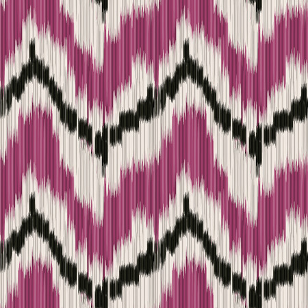 textile fabrics: Seamless Ikat Pattern. Abstract background for textile design, wallpaper, surface textures, pattern fills,  wrapping paper. Illustration