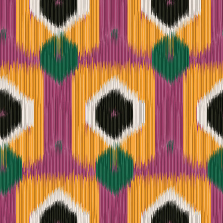 Seamless Ikat Pattern. Abstract background for textile design, wallpaper, surface textures, pattern fills,  wrapping paper. Vectores