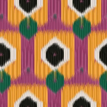 Naadloos Patroon Ikat. Abstracte achtergrond voor textiel design, behang, oppervlaktestructuren, patroonvullingen, inpakpapier.