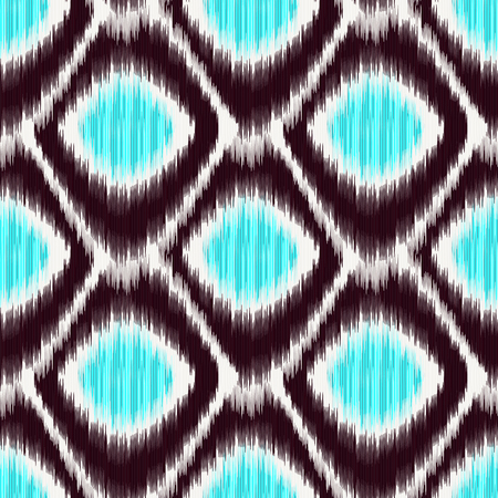Seamless Ikat Pattern. Abstract background for textile design, wallpaper, surface textures, pattern fills,  wrapping paper. Illustration