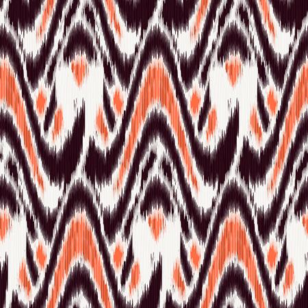 Motif Ikat Seamless. Abstract background for design textile, papier peint, textures, motifs de remplissage, papier d'emballage. Vecteurs