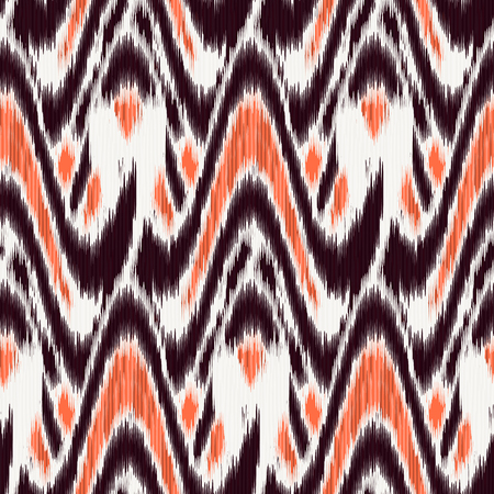 Seamless Ikat Pattern. Abstract background for textile design, wallpaper, surface textures, pattern fills, wrapping paper.