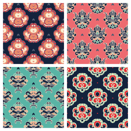 retro patterns: Vector set. Abstract seamless retro patterns.