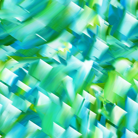 acryle: Abstract green seamless pattern with acrylic painting. Stock Photo