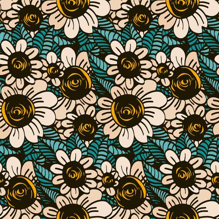 simple flower: Seamless pattern - simple flower background.Vector illustration