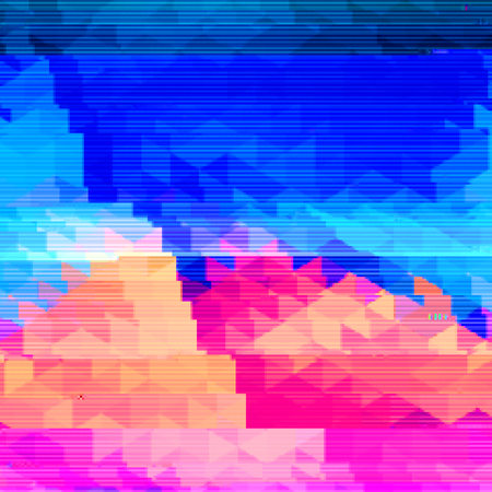 glitch: Bright background with light effects in style glitch- art. Vector illustration. Illustration