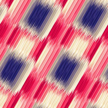 Naadloos Ikat-patroon. Abstracte achtergrond voor textielontwerp, behang, oppervlakte texturen, opvulpatronen, inpakpapier. Stock Illustratie