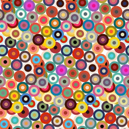 Seamless pattern with bright multicolor circles. Vector illustration.