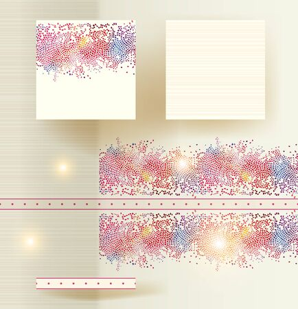 ceramic tile: Drawing for a ceramic tile with an example of its use in an interior.  Vector illustration