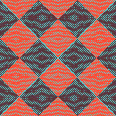 concise: Simple geometrical background in a retro style. Concise geometric background with red and brown squares, arranged diagonally.  Vector illustration.