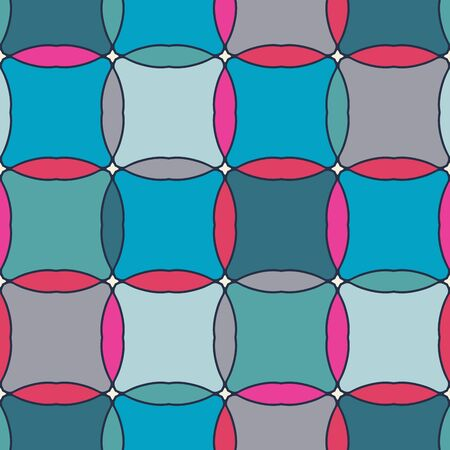 sixtieth: Simple geometrical background in a retro style. Simple geometrical forms in style of the sixtieth.  Vector illustration. Illustration