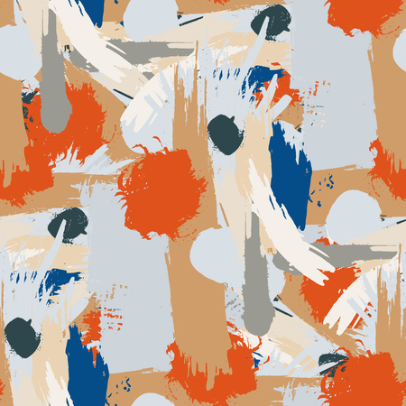 acryle: Abstract seamless pattern with acrylic painting. Vector illustration