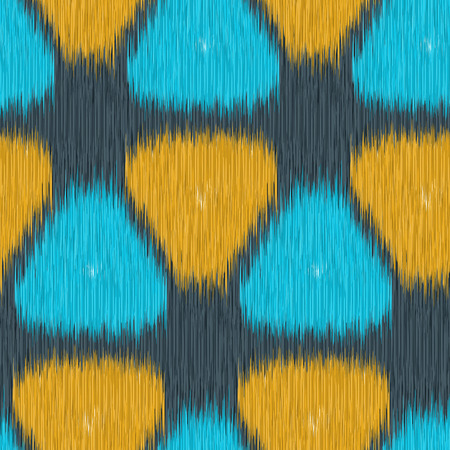 gobelin: Seamless Ikat Pattern. Abstract background for textile design, wallpaper, surface textures, pattern fills,  wrapping paper. Illustration