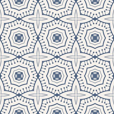nifty: Black and white seamless retro pattern. Monochrome textures on white  with  symmetric ornament.