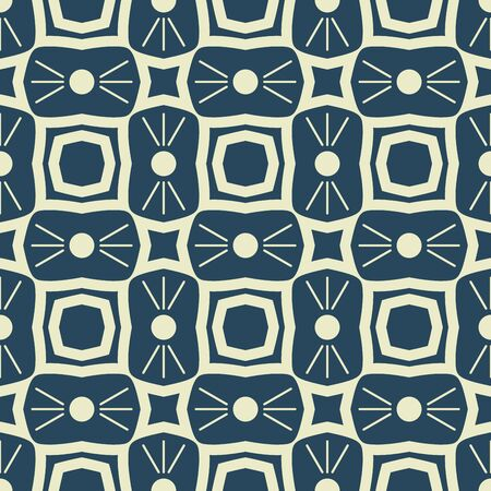 sixtieth: Black and white seamless retro pattern. Monochrome textures on white  with  symmetric ornament. Simple geometrical forms in style of the sixtieth. Vector illustration.