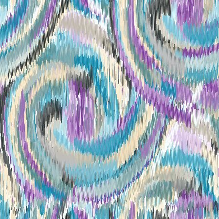 gobelin tapestry: Seamless Ikat Pattern. Abstract background for textile design, wallpaper, surface textures, pattern fills,  wrapping paper. Stock Photo