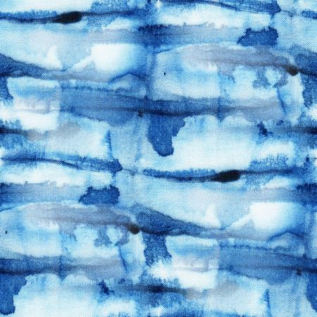 Beau motif tie-dye transparente de couleur indigo sur soie blanche. tissus de peinture Batik main - batik nodulaire. teinture Shibori. Banque d'images