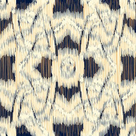 Naadloos Ikat Patroon met geometrische tekening. Abstracte achtergrond voor textiel design, behang, oppervlaktestructuren, inpakpapier.