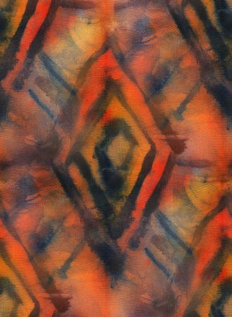 dyeing: Seamless tie-dye pattern. Hand painting fabrics - nodular batik. Shibori dyeing.
