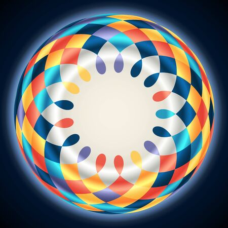Bright abstract background with a mosaic circle and place for text. The illustration contains transparency and effects. EPS10
