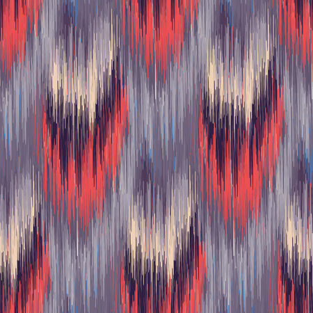 Grey and red seamless Ikat Pattern. Abstract  background for textile design, wallpaper, surface textures, wrapping paper.