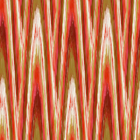 Green and red seamless Ikat Pattern. Abstract  background for textile design, wallpaper, surface textures, wrapping paper.