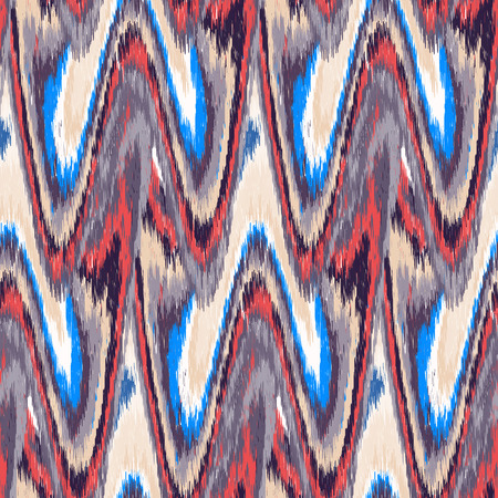 gobelin tapestry: Multicolor seamless Ikat Pattern. Abstract  background for textile design, wallpaper, surface textures, wrapping paper.