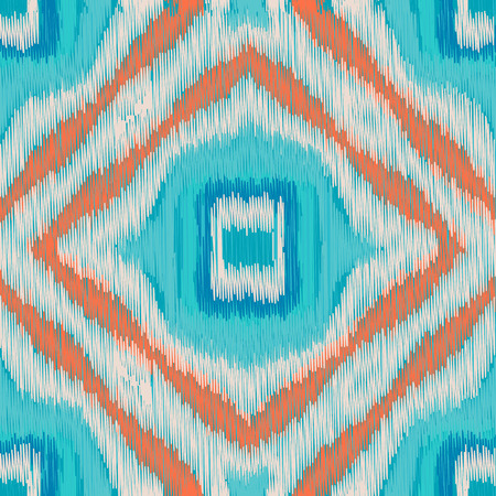 gobelin: Seamless Ikat Pattern. Abstract  background for textile design, wallpaper, surface textures, wrapping paper.