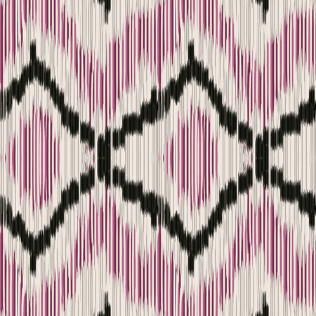 gobelin tapestry: Seamless Ikat Pattern with rhombuses. Abstract  background for textile design, wallpaper, surface textures, wrapping paper.