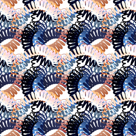 scribble: Seamless pattern of scribble. The illustration contains transparency and effects.