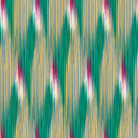 Seamless Ikat Pattern with rhombuses. Abstract  background for textile design, wallpaper, surface textures, wrapping paper.