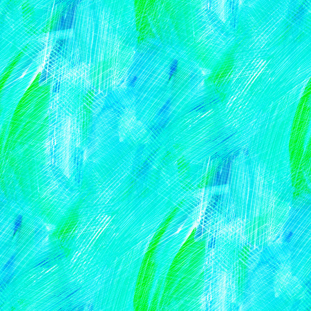 acryle: Abstract seamless pattern with blue acrylic painting. Hand-drawn illustration. Stock Photo
