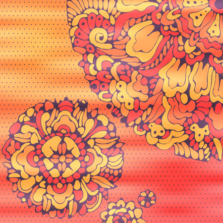 Vector flower background in retro-style.The illustration contains transparency and effects.