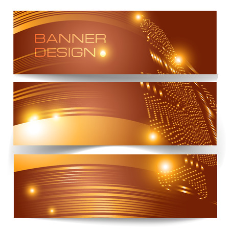 Brown banners with light effects