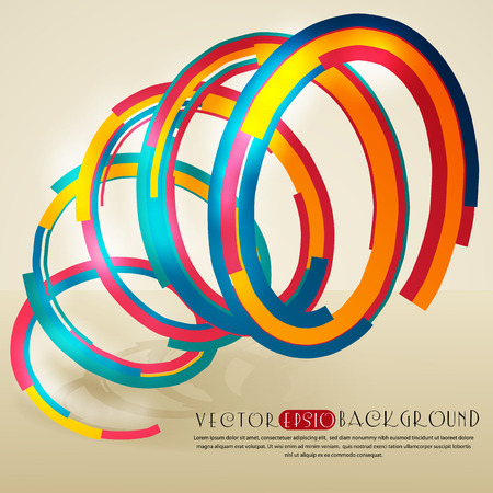 Abstract background with multicolor spiral. The illustration contains transparency and effects.