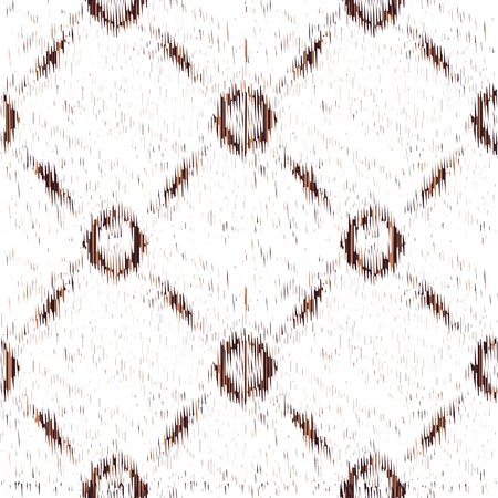 White seamless Ikat Pattern. Abstract  background for textile design, wallpaper, surface textures, wrapping paper.