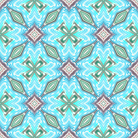 Seamless patterns with bright geometric mosaic drawing . Hand-drawn illustration. Vector.