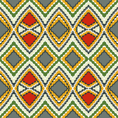 digital design: Seamless  pattern.  Multicolor geometric ornament with rhombus.  Vector illustration