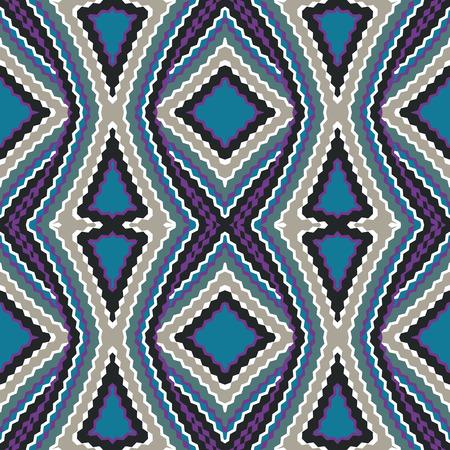 Nahtloses Muster. Geometrische Mehrfarbenverzierung mit Raute. Vektor-Illustration