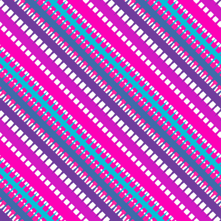 transverse: Seamless pattern with diagonal stripes of blue orange and white color. Vector illustration.