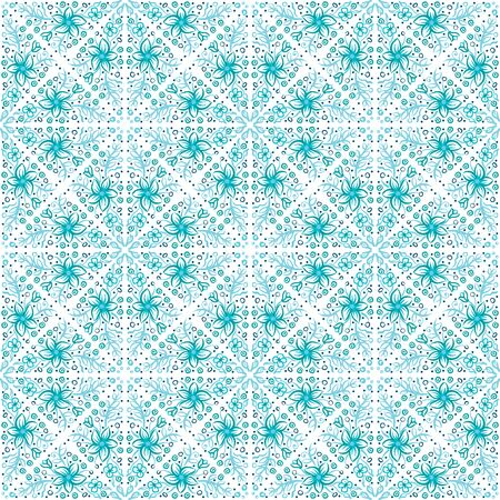 Seamless pattern - simple flower background